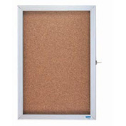 "Aarco 1 Door Enclosed Bulletin Board Cabinet - 18""W x 12""H"