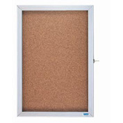 "Aarco 1 Door Enclosed Bulletin Board Cabinet - 24""W x 18""H"