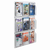 "Clear-Vu Magazine And Literature Display-9 Magazine Pockets - 30""W x 37""H"