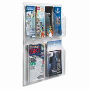 "Clear-Vu Combination Pamphlet/Magazine Display - 21""W x 23""H"