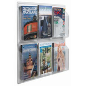 "Clear-Vu Magazine And Literature Display-6 Magazine Pockets - 30""W x 25""H"