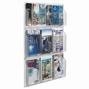 "Clear-Vu Combination Pamphlet/Magazine Display - 30""W x 35""H"