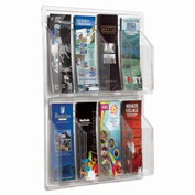 "Clear-Vu Pamphlet Display 8 Pamphlet Pockets - 21""W x 21""H"