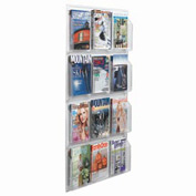 "Clear-Vu Magazine And Literature Display-12 Magazine Pockets - 30""W x 49""H"
