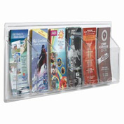 "Clear-Vu Pamphlet Display 6 Pamphlet Pockets - 31""W x 11""H"
