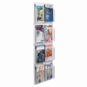 "Clear-Vu Magazine And Literature Display-8 Magazine Pockets - 21""W x 49""H"