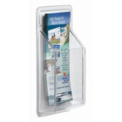 "Clear-Vu Pamphlet Display 1 Pamphlet Pockets - 5""W x 11""H"
