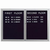 "Aarco 2 Door Enclosed Letter Board Cabinet - 48""W x 36""H"