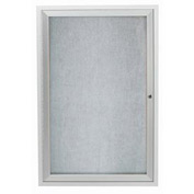 "Aarco 1 Door Aluminum Framed Enclosed Bulletin Board - 24""W x 36""H"