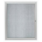 "Aarco 1 Door Aluminum Framed Enclosed Bulletin Board - 30""W x 36""H"