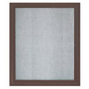 "Aarco 1 Door Aluminum Framed Enclosed Bulletin Board Bronze Anod. - 30""W x 36""H"