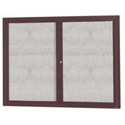 "Aarco 2 Door Aluminum Framed Enclosed Bulletin Board Bronze Anod. - 48""W x 36""H"