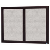 "Aarco 2 Door Aluminum Framed Enclosed Bulletin Board Bronze Anod. - 60""W x 48""H"