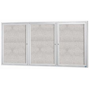 "Aarco 3 Door Aluminum Framed Enclosed Bulletin Board - 96""W x 48""H"