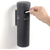 Wall Mounted Cigarette Receptacle Black
