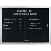 "Aarco 2 Door Aluminum Framed Letter Board w/ Sliding Door - 48""W x 36""H"