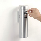 Wall Mounted Cigarette Receptacle Satin