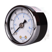 "Arrow Pressure Gauge For Mini Regulators & Mini Integral 1681, Steel Case, 1/8"" NPT, 160 PSI"