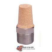 "Arrow Pneumatic Exhaust Muffler ASP-2, Sintered Bronze, 1/4"" NPT, 300 PSI - Pkg Qty 10"
