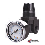 "Arrow Mini Air Regulator R262g, Glass Filled Nylon, 1/4"" Npt, 250 Psi - Min Qty 3"