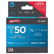 T50 Type Staples, Arrow Fastener 504