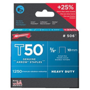 T50 Type Staples, Arrow Fastener 506