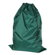 "American Supply 30"" Drawcord Laundry Bag, 210 Denier Nylon, Green, Straight Bottom"