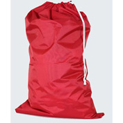 "American Supply 30"" Drawcord Laundry Bag, 210 Denier Nylon, Red, Straight Bottom"