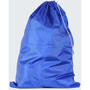 "American Supply 40"" Drawcord Laundry Bag, 420 Denier Nylon, Blue, Straight Bottom"