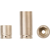 """AMPCO® I-1/2D3/4 Non-Sparking Impact Socket Impact, 1/2"""" Drive, 3/4"""""""