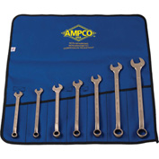 AMPCO® M-41M 7 Pc Non-Sparking Combination Wrench Kit, MM