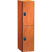 ASI Storage Traditional Plus Phenolic Locker 11-821515601 - Double Tier 15 x 15 x 30, Almond