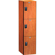 ASI Storage Traditional Plus Phenolic Locker 11-831515721 - Triple Tier 15 x 15 x 24, Almond