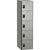 ASI Storage Traditional Phenolic Locker 11-851518600 - Five Tier 15 x 18 x 12, Tungsten EV