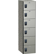 ASI Storage Traditional Phenolic Locker 11-861518720 - Six Tier 15 x 18 x 12, Taupe