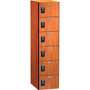 ASI Storage Traditional Plus Phenolic Locker 11-861818721 - Six Tier 18 x 18 x 12, Almond