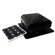Attic Breeze® Zephyr™ AB-202D-BLK Self-Flashing Detached Solar Attic Fan, 20W, Black