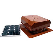 Attic Breeze® Zephyr™ AB-202D-TCT Self-Flashing Detached Solar Attic Fan, 20W,Terra Cotta