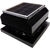 Attic Breeze® GEN 2 AB-2042A-BLK Curb Mount Attached Solar Attic Fan 20W Black