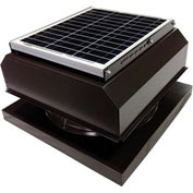Attic Breeze® GEN 2 AB-2042A-BRN Curb Mount Attached Solar Attic Fan 20W Brown