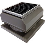 Attic Breeze® GEN 2 AB-2042A-GRY Curb Mount Attached Solar Attic Fan 20W Gray