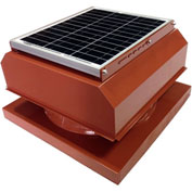 Attic Breeze® GEN 2 AB-2042A-TCT Curb Mount Attached Solar Attic Fan 20W Terra Cotta