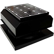 Attic Breeze® Zephyr™ AB-204A-BLK Curb Mount Attached Solar Attic Fan, 20W, Black