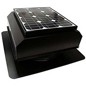 Attic Breeze® Zephyr™ AB-252A-BLK Self-Flashing Attached Solar Attic Fan, 25W, Black