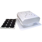 Attic Breeze® Zephyr™ AB-252D-WHT Self-Flashing Detached Solar Attic Fan, 25W, White