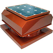 Attic Breeze® Zephyr™ AB-3042A-TCT Curb Mount Attached Solar Attic Fan, 30W, Terra Cotta