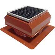 Attic Breeze® GEN 2 AB-3022A-TCT Self-Flashing Attached Solar Attic Fan 30W Terra Cotta