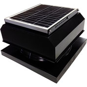 Attic Breeze® GEN 2 AB-3042A-BLK Curb Mount Attached Solar Attic Fan 30W Black