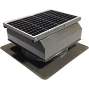 Attic Breeze® GEN 2 AB-4022A-GRY Self-Flashing Attached Solar Attic Fan 40W Gray