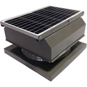 Attic Breeze® GEN 2 AB-4042A-GRY Curb Mount Attached Solar Attic Fan 40W Gray